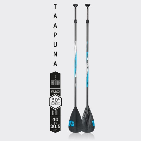 pagaie F-One SUP Taapuna 50% Carbon Vario 3 parties