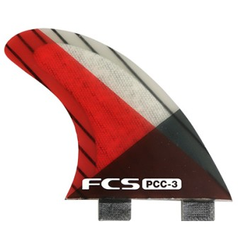 Ailerons surf FCS PCC-3 Red/Smoke Small