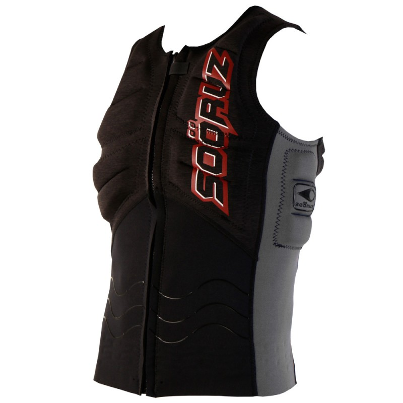 Soöruz Kitevest Front Zip OPEN Black
