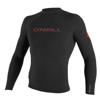 Top O'neill Hammer 1.5mm L/S Crew Black