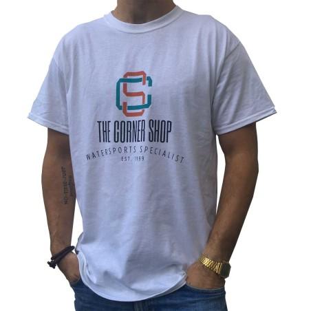 T-Shirt The Corner Shop, Blanc