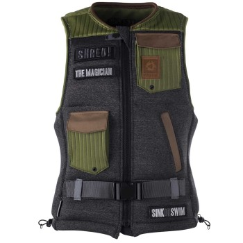 Impact Vest Mystic The Magician Front Zip Army