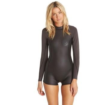 Combinaison Shorty Billabong Femme LS Surf Capsule Spring 2017 Black Taille