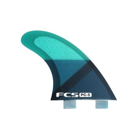 Ailerons surf FCS PC5 Blue Slice Tri