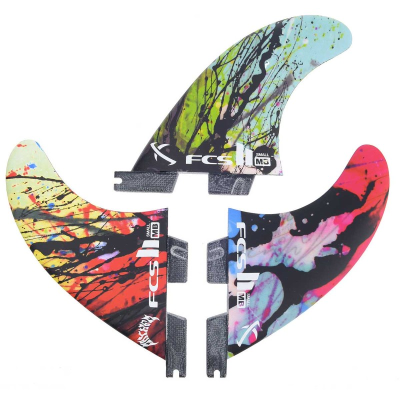 Ailerons FCS II Matt Biolos PC Small Graphic Tri Retail Fins