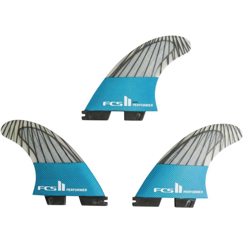 Ailerons Surf FCS II Performer PC Carbon Teal Small