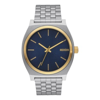 Montre Nixon Time -Teller Silver Gold / Blue