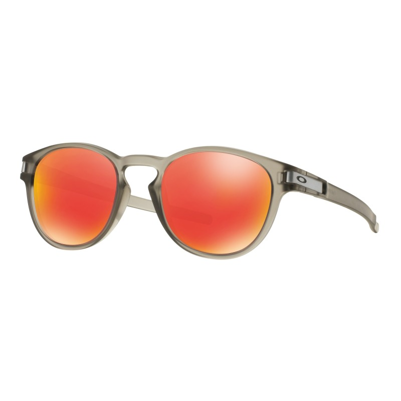 Lunettes de soleil Oakley Latch Matte Grey Ink / Ruby Iridium