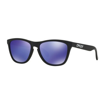 Lunettes de soleil Oakley Frogskins Matte Black / Violet Iridium