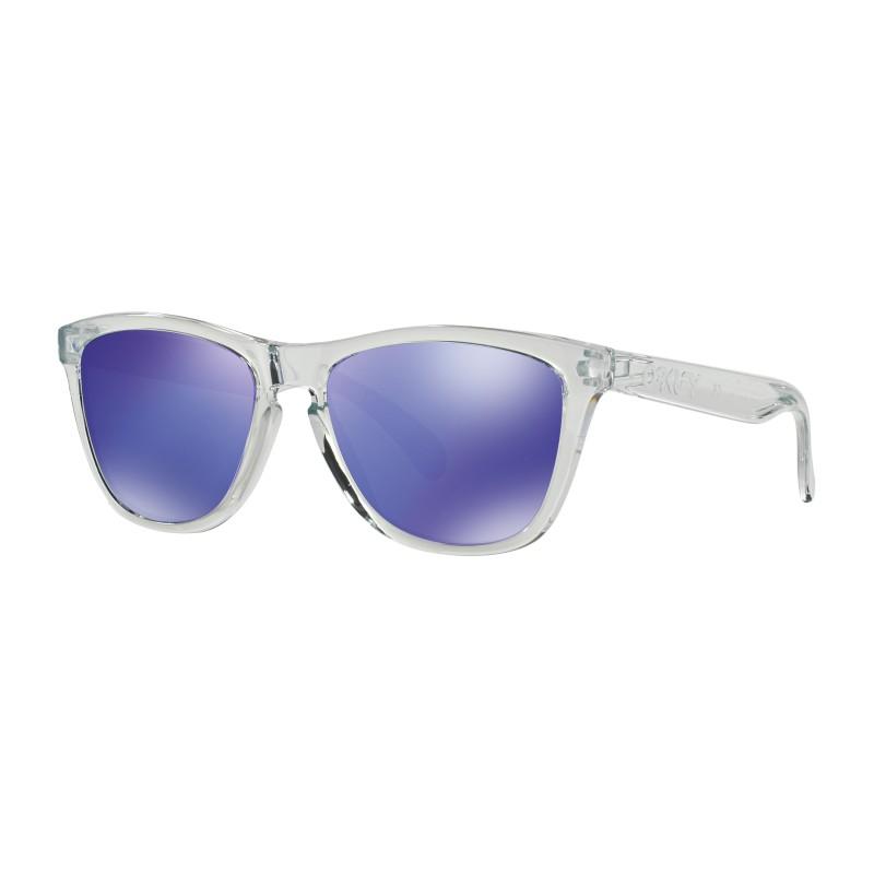 Lunettes de soleil Oakley Frogskins Polished Clear / Violet Iridium