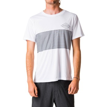 Lycra Rip Curl Linear Surflite UV Tee White