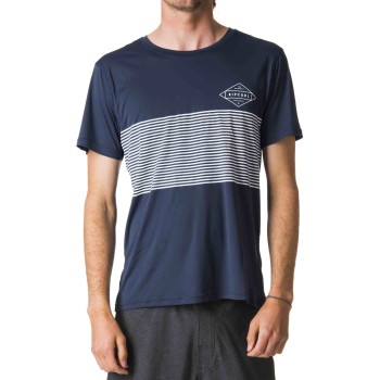 Lycra Rip Curl Linear Surflite UV Tee Navy Taille