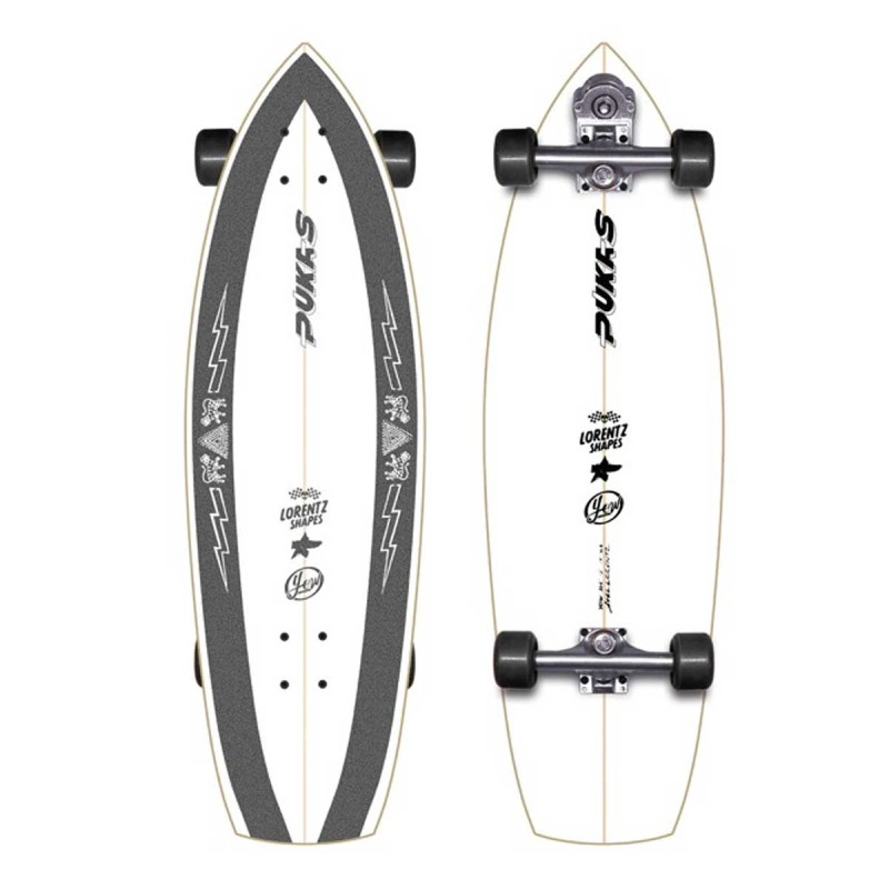 "Surf skate YOW La Loca Pukas 33.5"""