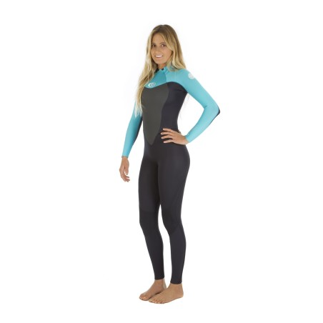 Combinaison Rip Curl Wmn Omega 5/3 Back Zip 2017 Turquoise