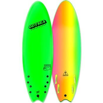 """Planche de Surf Odysea Skipper Quad 6'6"""" Neon green"""