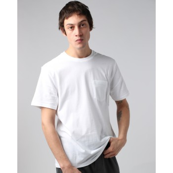 T-Shirt Element Basic Pocket Crew Optical White