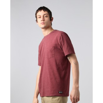 T-Shirt Element Basic Pocket Crew Oxblood Heather