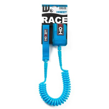 Leash SUP Howzit Coiled 9' / 8mm AQUA