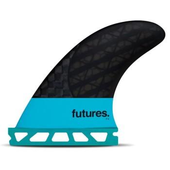 Ailerons Thruster - Futures F4 Blackstix 3.0 Turquoise Carbon