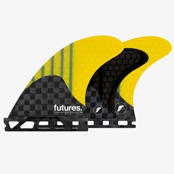 Ailerons 5-Fins Futures - F4 Generation Series Yellow