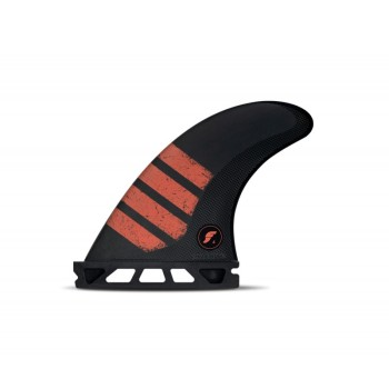 Ailerons Futures Tri-fins F4 Alpha Carbon Red Small