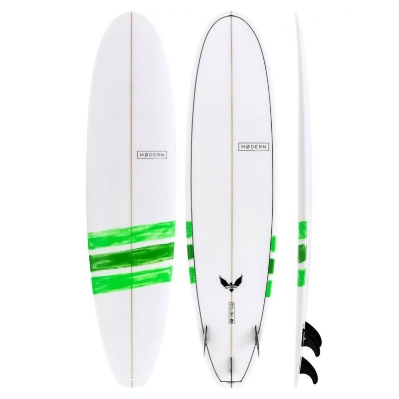 Planche de Surf Modern Surfboards Black Bird PU Basic Lime