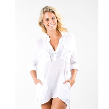 Rusty Karina Beach Shirt White