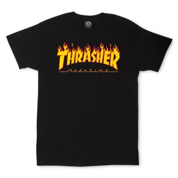 T-Shirt Trasher Flame Black