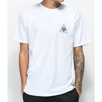 T-Shirt HUF Triangle Felix le Chat White