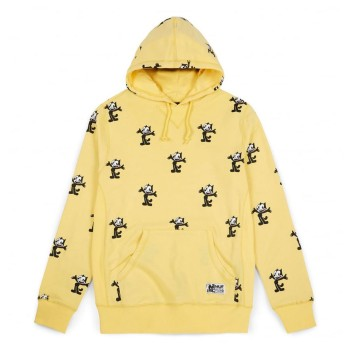 Sweat HUF Felix le Chat AllOver Print Banana