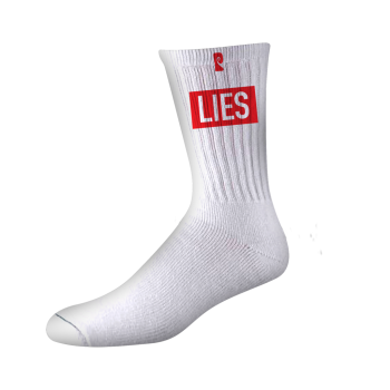 Chaussettes Psockadelic Lies White Red