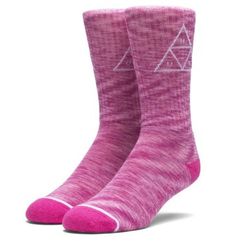 Chaussettes HUF Melange Triple Triangle Pink
