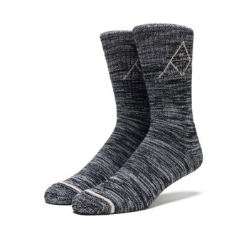 Chaussettes HUF Melange Triple Triangle Black