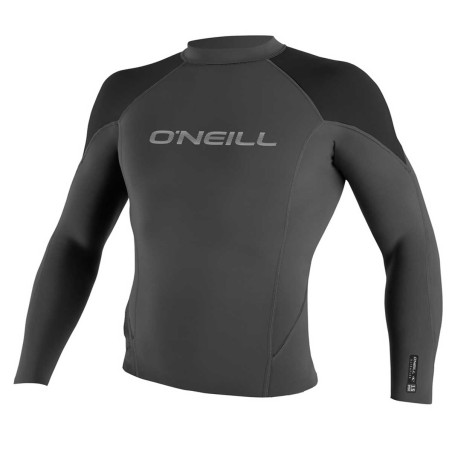 Top O'neill Hammer 1.5mm L/S Crew Black 2017 Taille