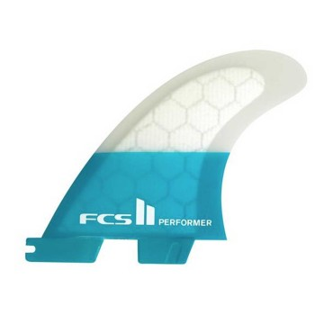 Ailerons FCS II Performer PC Teal Tri set