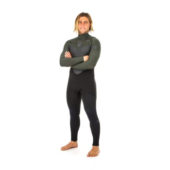 Combinaison Rip Curl Flash Bomb 5/3 Front Zip 2019 Black/Green