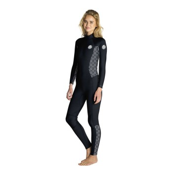 Combinaison Rip Curl Dawn Patrol 5/3 Back Zip 2019 Black/White