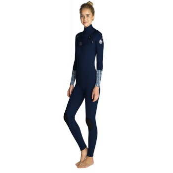Combinaison Rip Curl Flash Bomb 5/3 Front Zip 2019 Blue