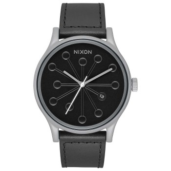 Montre Nixon Station Leather Gray / Caples