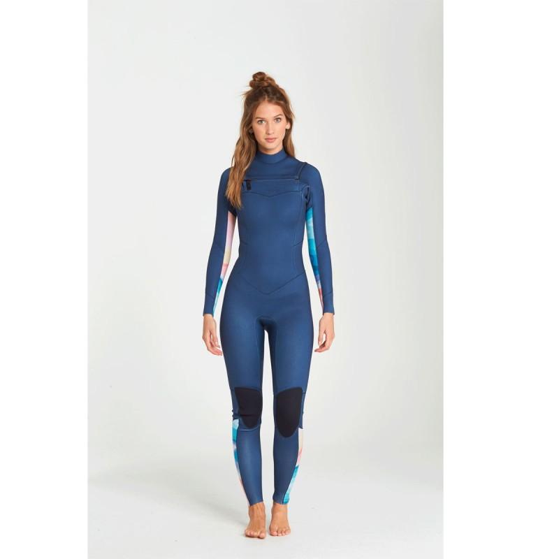 Combinaison Billabong Salty Dayz 5/4 Front Zip 2019 Blue