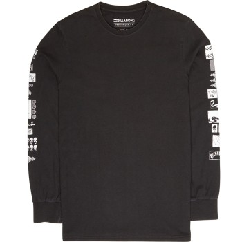T-Shirt Billabong Mercado Long Sleeves Black