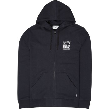 Sweat Billabong Mercado Zip Hood Black