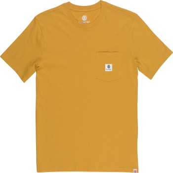 T-Shirt Element Basic Pocket Label Mineral Yellow