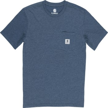 T-Shirt Element Basic Pocket Label Indigo Heather