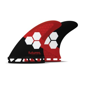 Ailerons Futures Thruster - FAM3 Al Merrick RTM Hex black & red