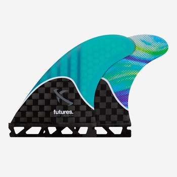 Ailerons Futures Thruster - Lost / Medium Teal Swril Generation Series