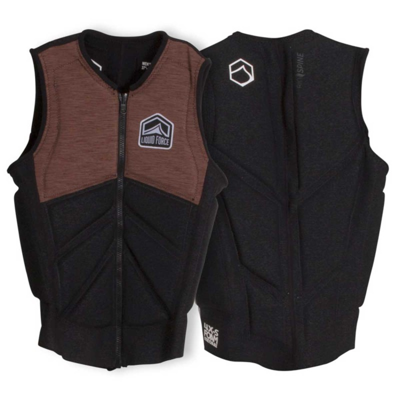 Impact Vest Liquid Force Z-Cardigan Comp Brown