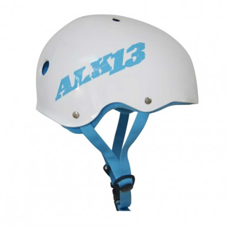 Casque ALK13 H2O+ White - Logo Blue