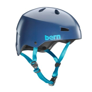Casque Bern Macon H2O Satin Navy Blue