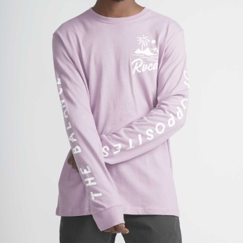 Sweat RVCA Mai Thai LS Lavande